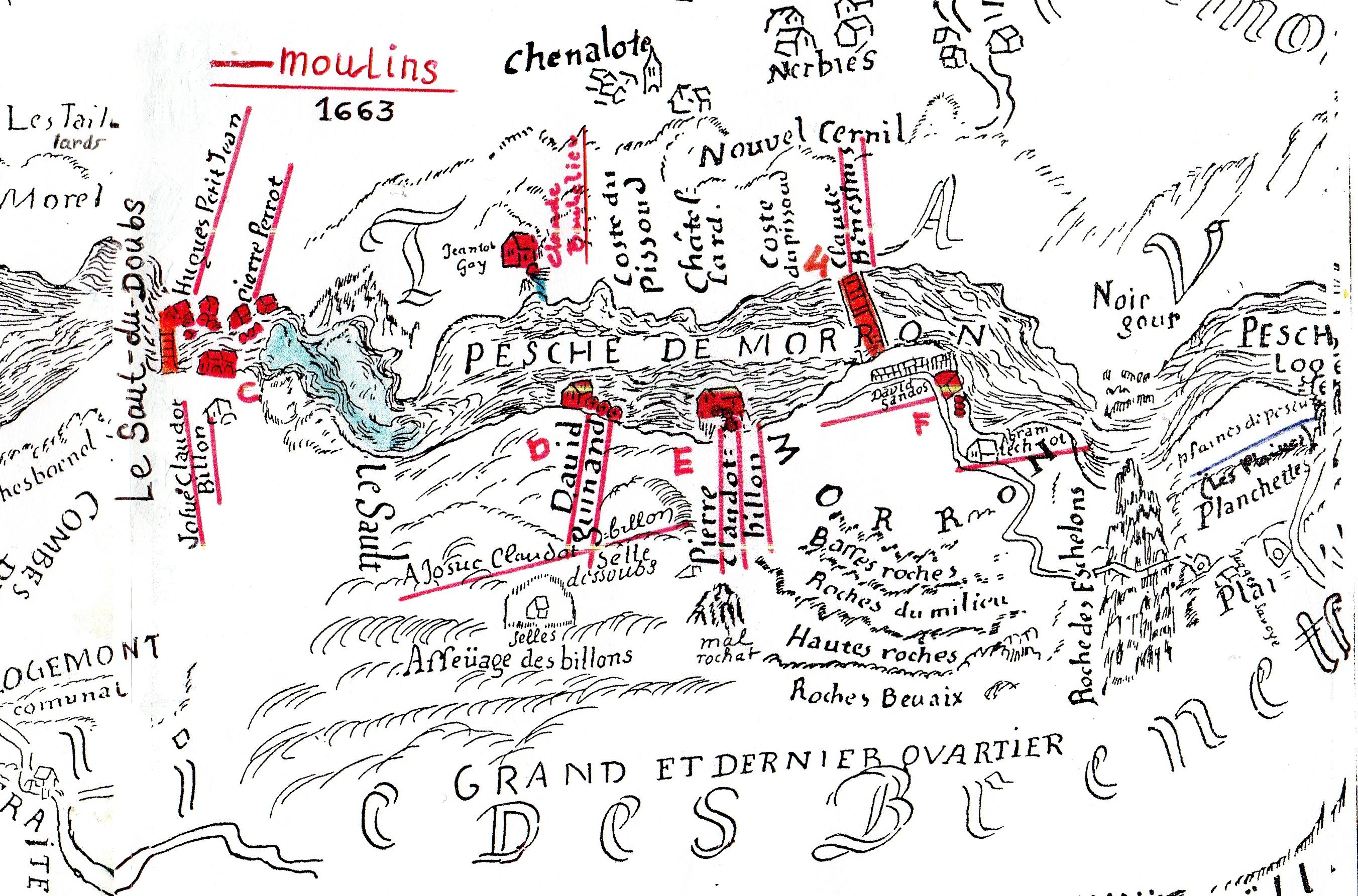 Carte des Moulins au Saut-du-Doubs à Moron-300 ppp-FPSI